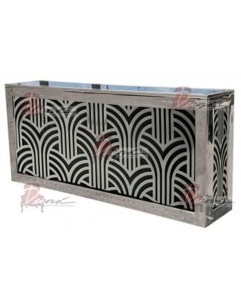 Reflection Bar 8' (Art Deco) (Silver)
