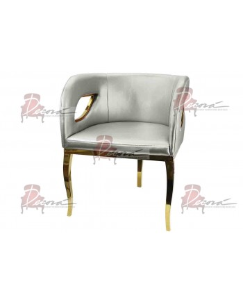 Reflection Accent ArmChair (Trident) (Silver)