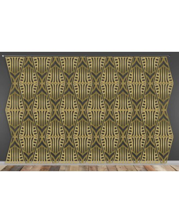 Laser Cut Wall (Art Deco Design) Gold