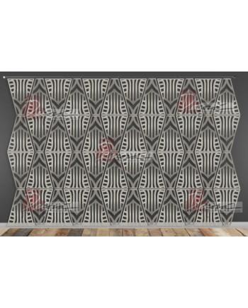 Laser Cut Wall (Art Deco Design) Silver