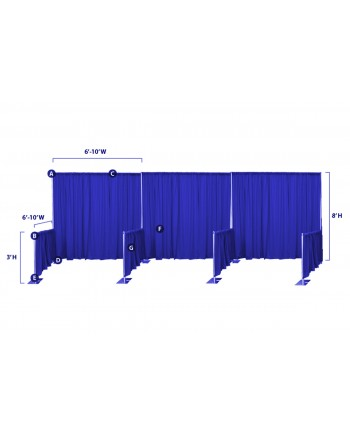 Drape Trade Show Booth 8'x8' (Free standing)