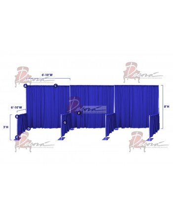 Drape Trade Show Booth 8'x8' (Connected)