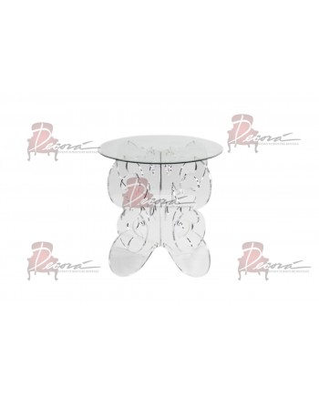 "Crystal      Dining Table ( 30 D"") Round"