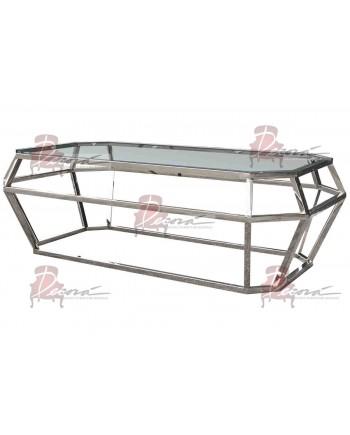 "Reflection Coffee Table Gem (Silver) 48""L x 24""W x 18""H"