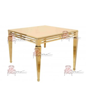 """Reflection HighBoy Table (Gold) 60"""" x 60"""""""