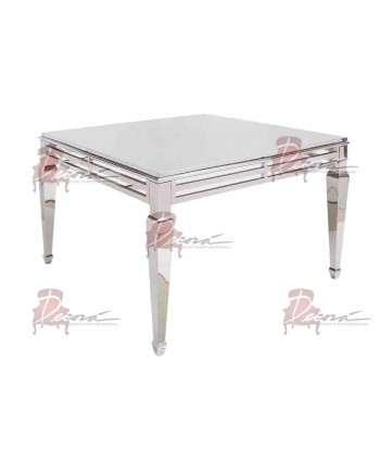 """Reflection HighBoy Table (Silver) 60"""" x 60"""""""