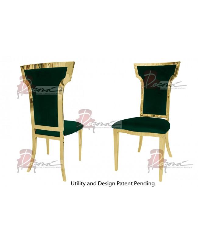 Cornelius Chair (Gold-Emerald)