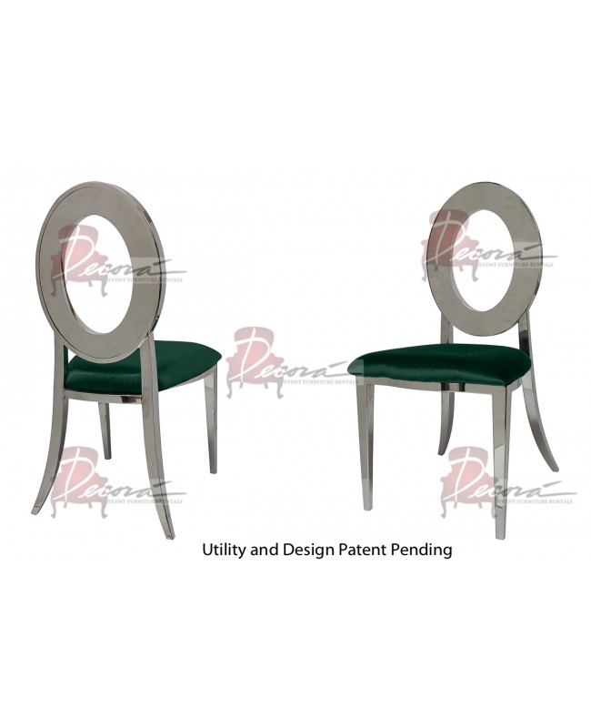 Oz Chair (Silver-Emerald)