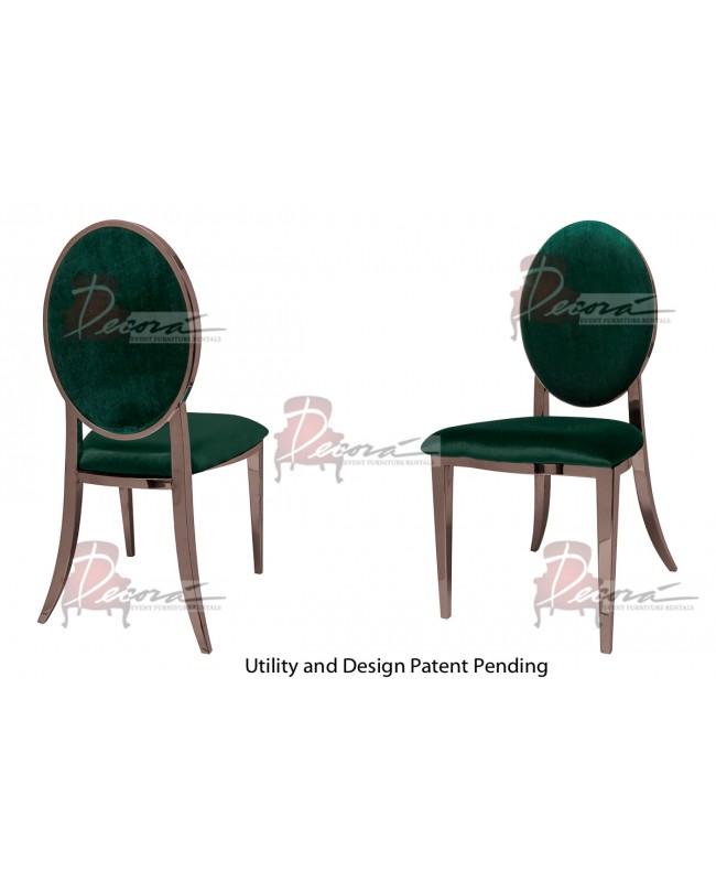 Tiffany Chair (Rose Gold-Emerald)