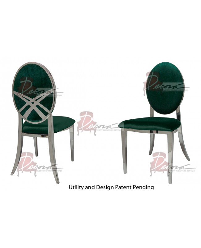 Lasso Chair (Silver-Emerald)