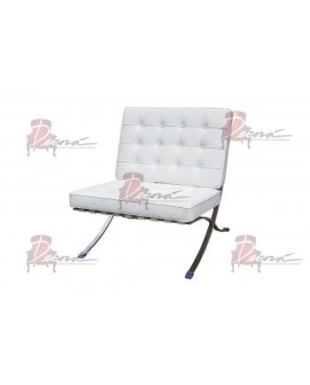 Modern Line Barcelona Chair (White)
