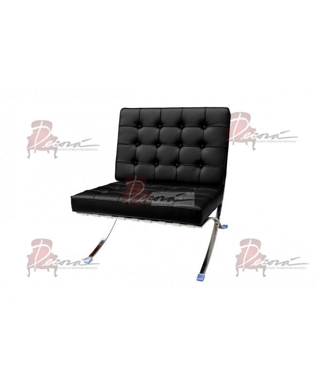Modern Line Barcelona Chair (Black)