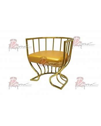 Reflection Accent ArmChair (Tulip) (Gold)