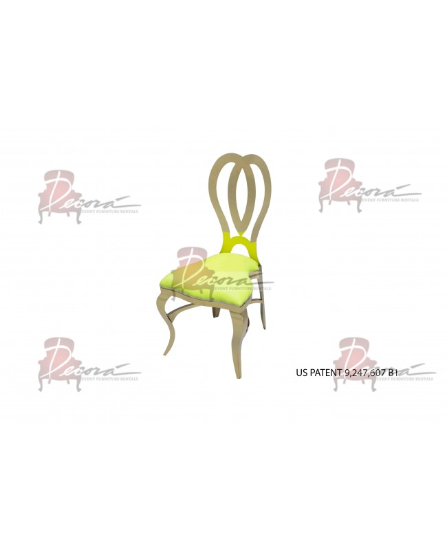 Halexandria Chair (Gold-L.Green)