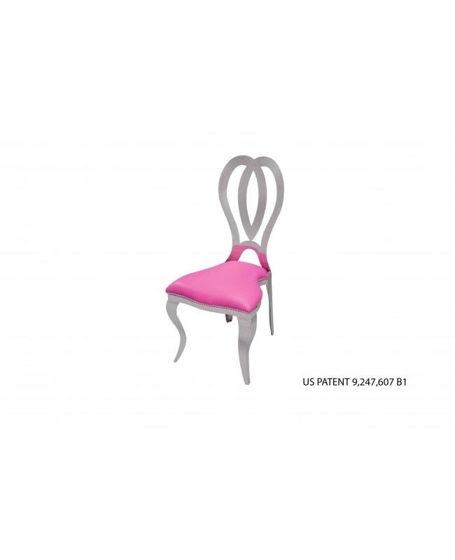 Halexandria Chair (Silver-HotPink)