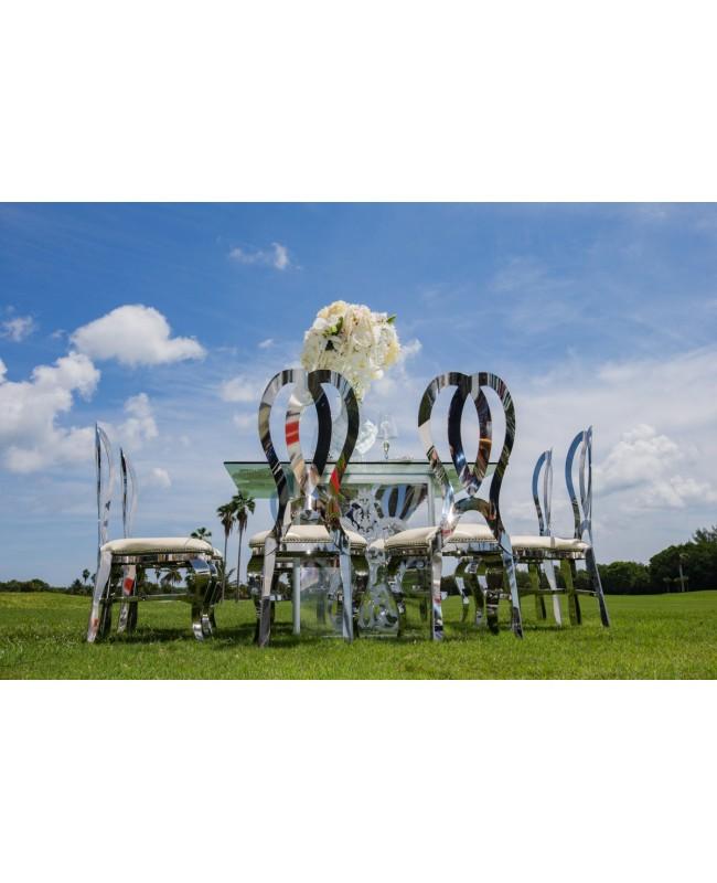 Halexandria Chair (Silver-Black)