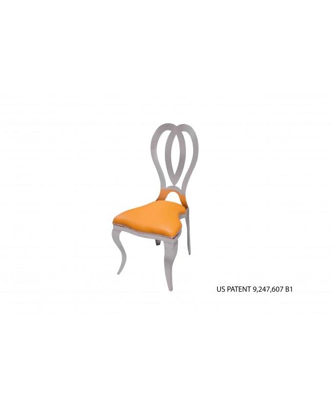 Halexandria Chair (Silver-Orange)