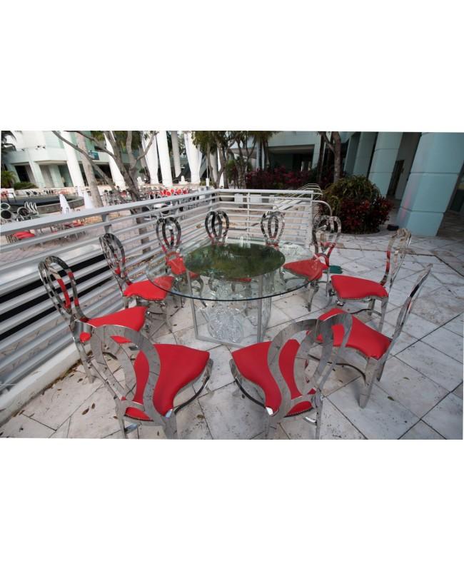 Halexandria Chair (Silver-Red)