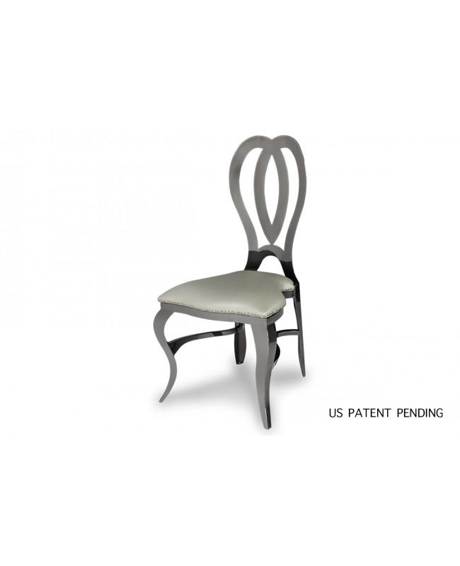 Halexandria Chair (Gun Metal-Silver)