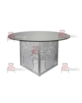 "Mirror Dining Table Dior 60"" D"