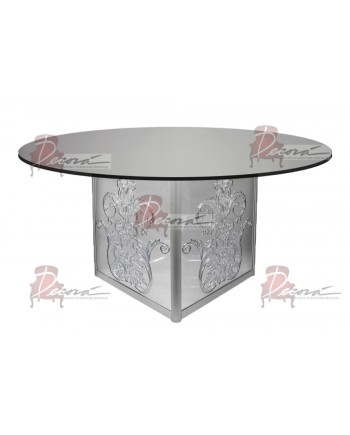 "Mirror Dining Table Dior 72"" Round"