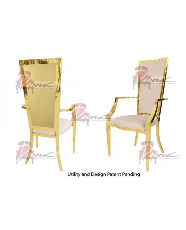 Reflection Armchair Rectangular (Gold-Champagne)