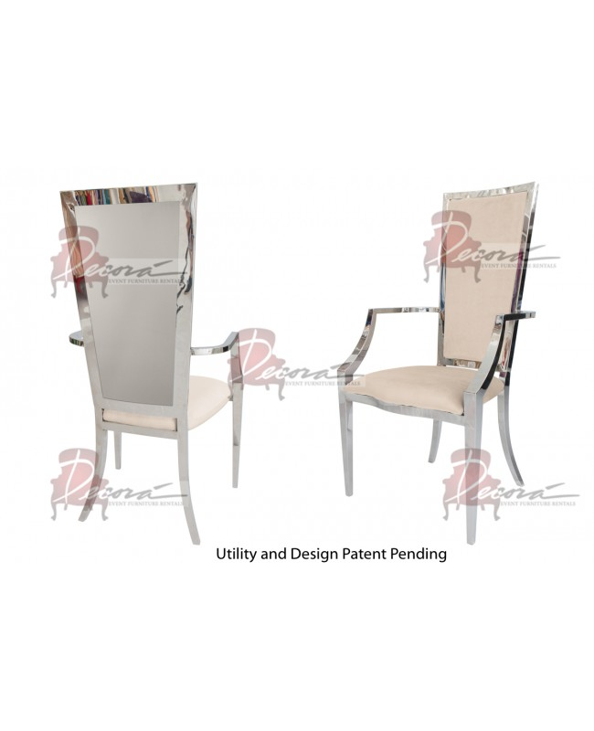Reflection  Armchair Rectangular (Silver-Champagne)