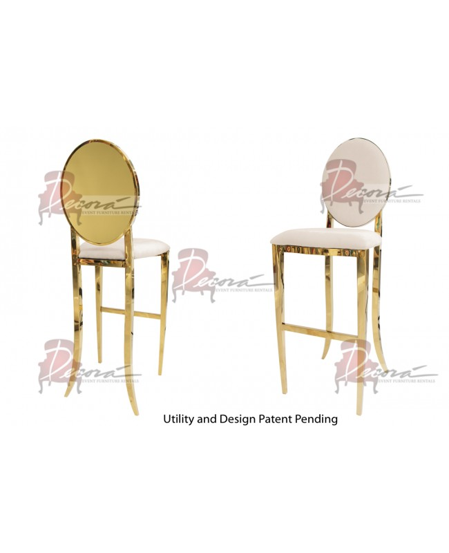 Solid Barstool (Gold-Champagne)