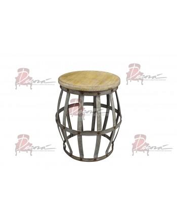 Vintage End Table Barrel