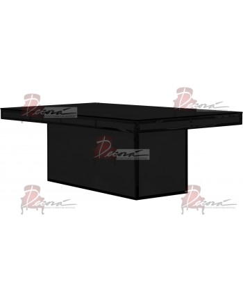 Modern Line Dining Table (Black)