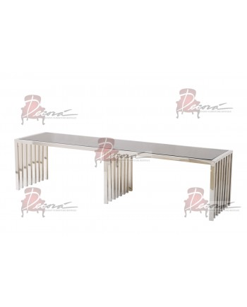 Reflection Coffee Table Art Deco (Silver)