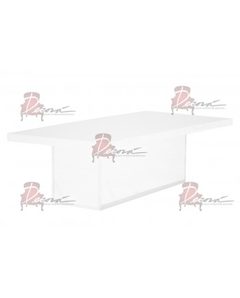 Modern Line Dining Table (White)