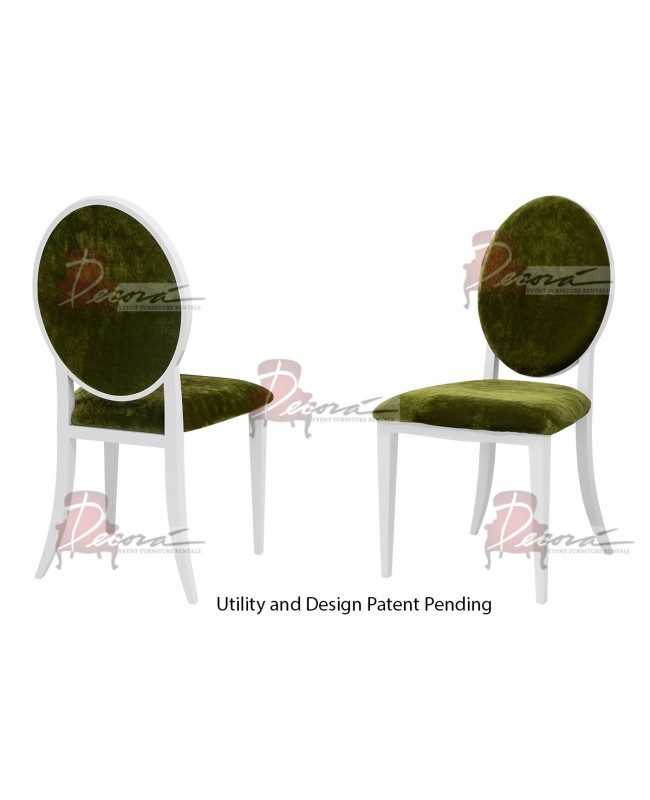 Tiffany Chair (White-Moss)