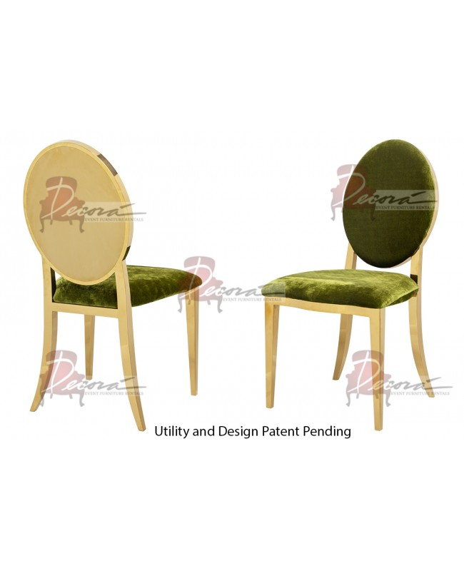 Reflection Chair Round  (Gold-Moss)