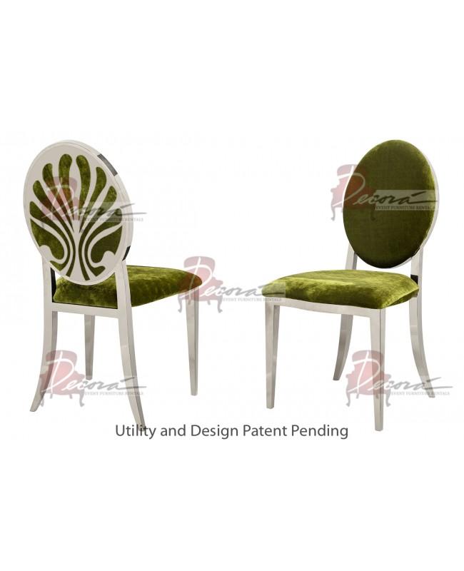 Nouveau Shell Chair (Silver-Moss)