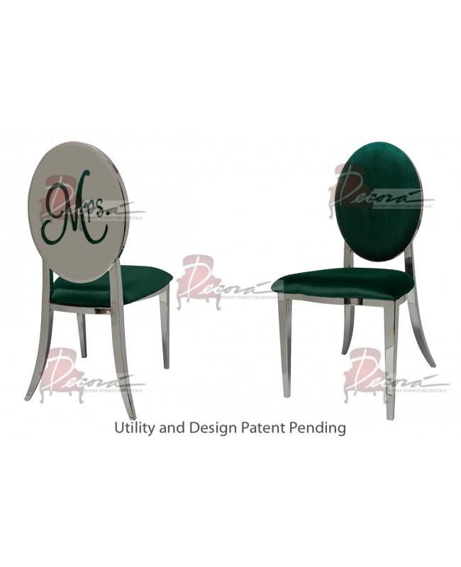 Mrs. Chair (Silver-Emerald)