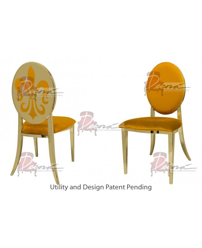Fleur-de-lis Chair (Gold-Yellow)