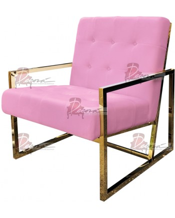 Reflection Rain Armchair (Gold - Lt.Pink Tufted)