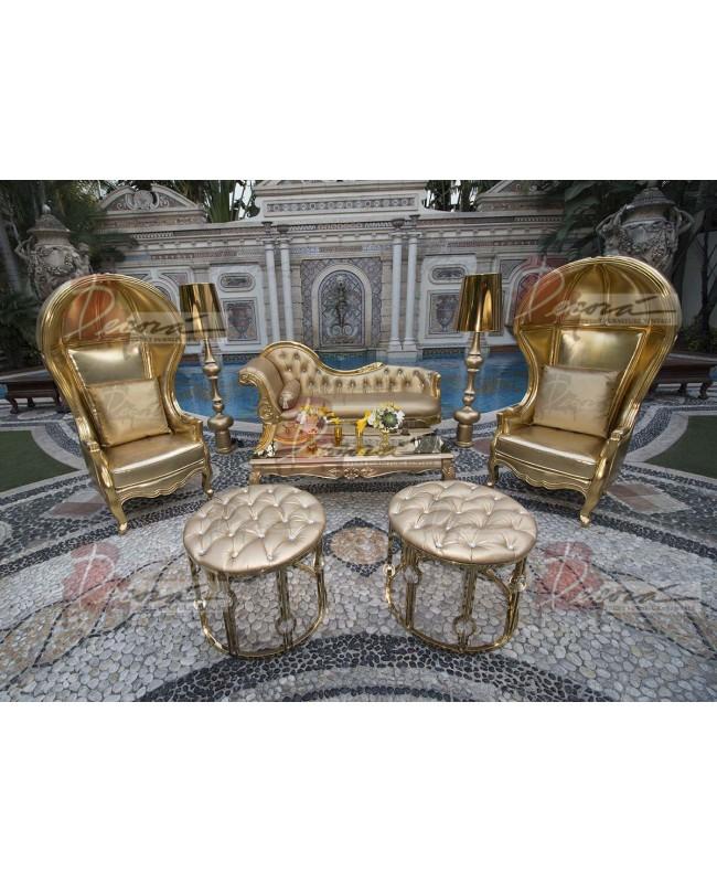 """Baroque Table 24""""x48""""x30""""H (Queen) (Green)"""