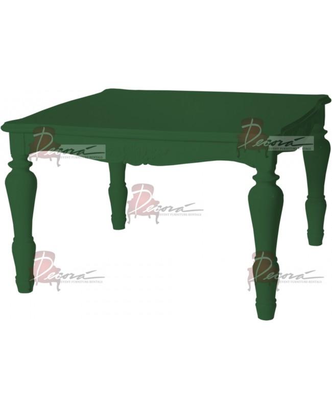 "Baroque Table 48""x48""x42""H (King) (Green)"