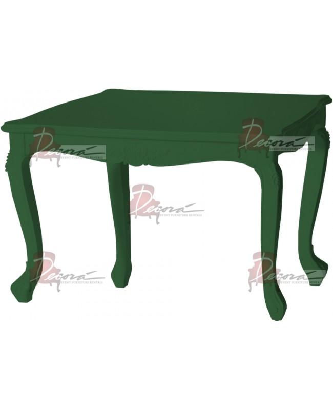 """Baroque Table 48""""x48""""42""""H (Queen) (Green)"""