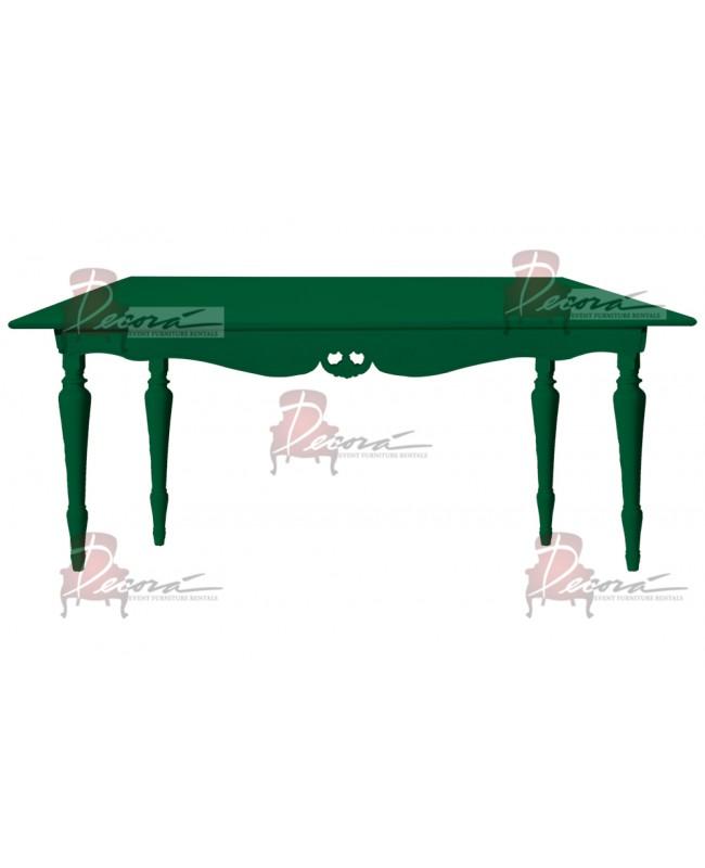 "Baroque Table 30""x72""x42""H (King) (Green)"