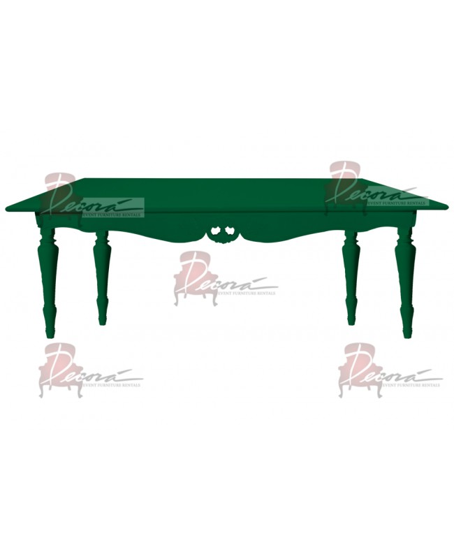 "Baroque Table 30""x72""x30""H (King) (Green)"