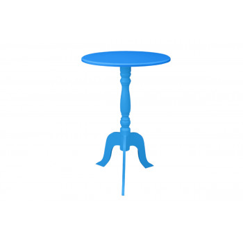 Contemporary End Table (Blue)