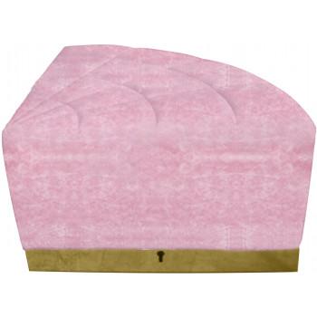 Velvet Modern Line 1/4 Ottoman (Pink) (Gold)