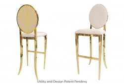 Nouveau Shell Barstool (Gold)