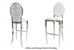 Dior Barstool (Silver)