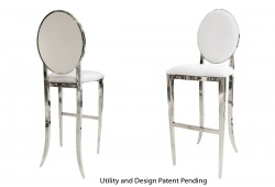 Round Barstool (Silver)