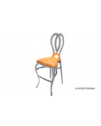 Halexandria Barstool (Silver-Orange)