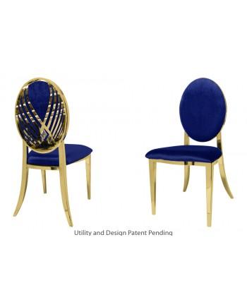 Crystal Swan Chair (Gold-Royal)